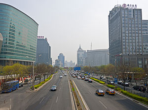 Chaoyangmen - Image: View of Chaoyangmen from pedestrian overpass to west