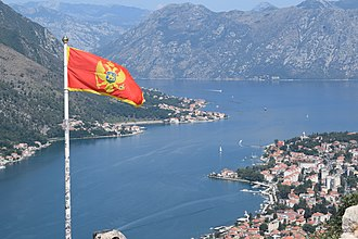 Kotor - View of Kotor from Castle Of San Giovanni.