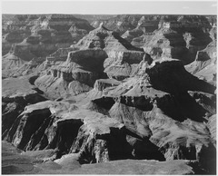"View of rock formations, ""Grand Canyon National Park,"" Arizona., 1933 - 1942 - NARA - 519887.tif"