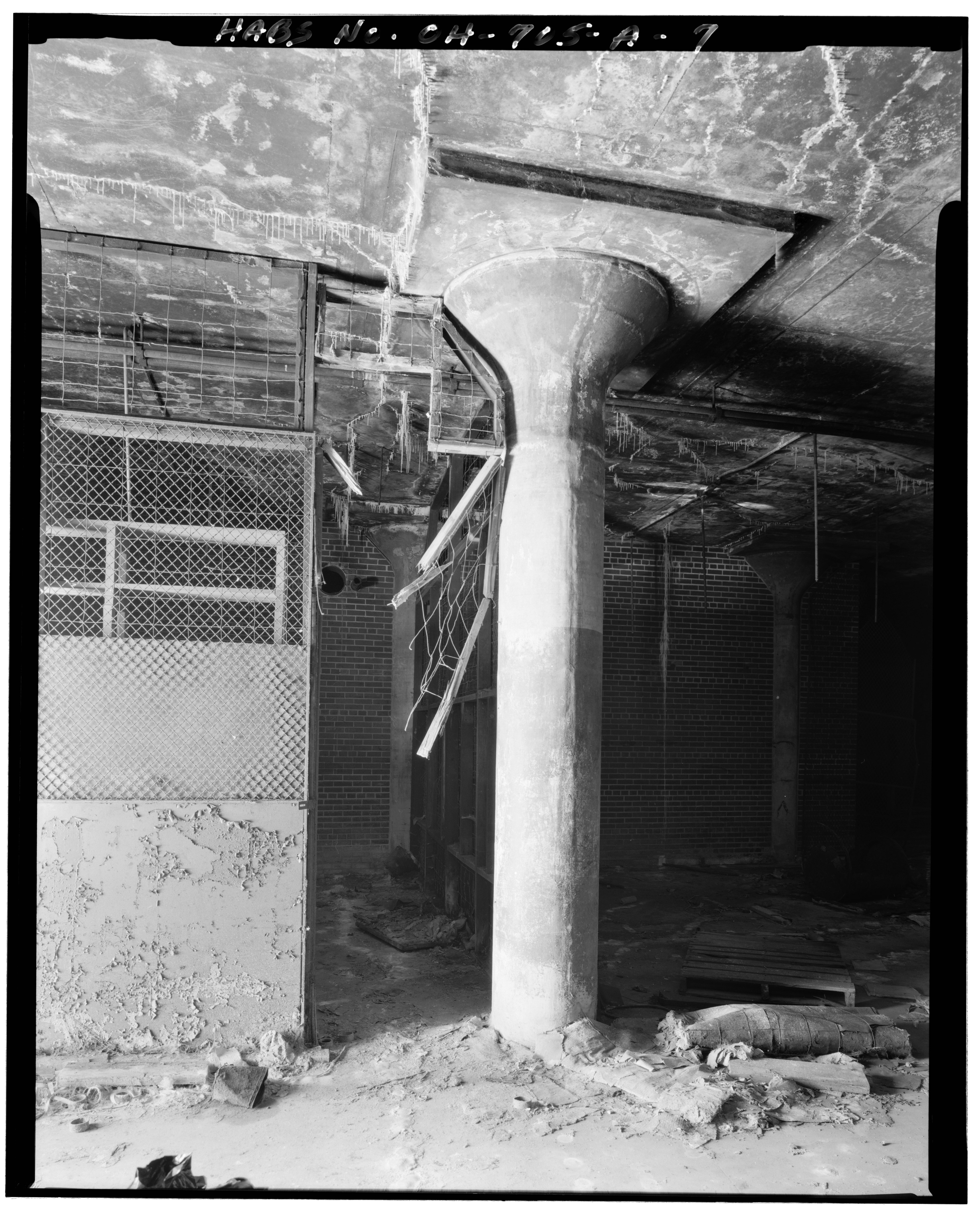 File view south interior ground floor column detail - Interior car detailing cincinnati ...