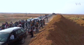 Villagers return to Al-Hisbah after SDF conquest (November 2016).png
