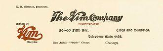 Vim Records - Vim Company Letterhead – 1901