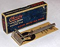 Vintage Christy Double Action SE Safety Razor With Massage Bar, Made In The USA By The Christy Company, Fremont, Ohio, Slogan - Keeps Your Face Young, Circa 1920s (29308990781).jpg