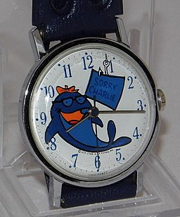 Vintage Timex Charlie The Tuna Promotional Advertising Wrist Watch, Copyright 1977 By Star-Kist Foods, Inc. (16759887849)