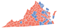 Virginia Presidential Election Results by County, 2008.png