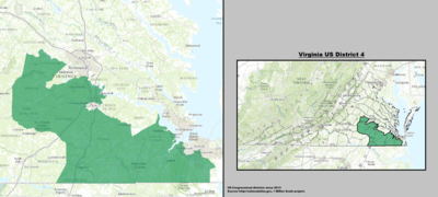 Virginia's 4th congressional district - since January 3, 2013.