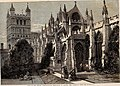 Visit of the British Archaeological Association to Exeter, the Cathedral from the South-East - ILN 1861.jpg