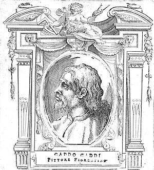 Gaddo Gaddi - Illustration of Gaddo Gaddi for Le Vite, by Giorgio Vasari, 1568