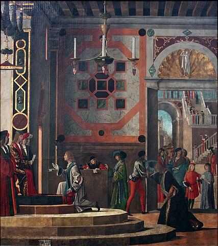 Vittore Carpaccio - Sant'Orsola polyptich - Commiato degli ambasciatori.jpg