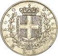 Vittorio Emmanuel II 5 lires 1877 revers.jpg