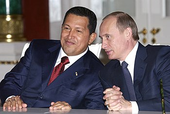 Vladimir Putin with Hugo Chavez 26 November 2004-5