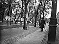 Vuoden 1930 eduskuntavaalien vaalimainoksia Heikinesplanadilla (= Mannerheimintie), vas Vanha ylioppilastalo.jpg
