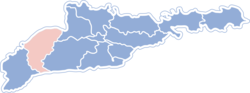 Location of Vižnicjas rajons