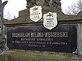 Włocławek-detail of Bronisław Belina-Węsierski grave.jpg