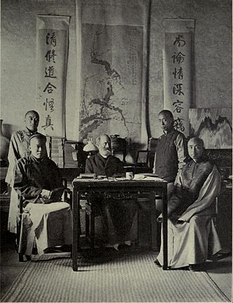 Peking University - William Alexander Parson Martin, Dean of the Department of Western Learning with his students.