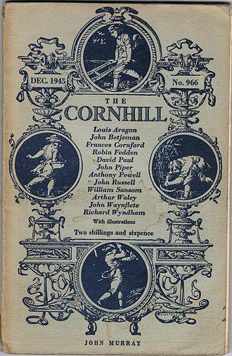 The Cornhill Magazine - William James Linton's design of the front of The Cornhill Magazine, this copy from December 1945.
