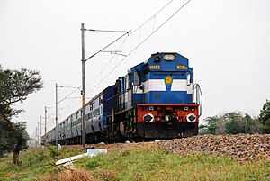 Indian Railways - A WDM-3D broad gauge diesel locomotive.