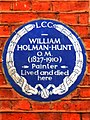 WILLIAM HOLMAN-HUNT O.M. (1827-1910) Painter Lived and died here.jpg