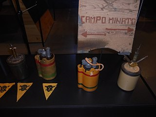 A.P. Shrapnel Mine Type of Bounding mine