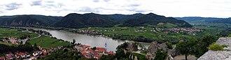 Dürnstein - Dürnstein panorama from the castle