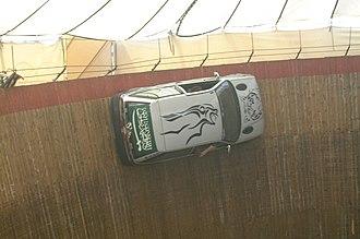 Wall of death - First Saudi driver Saeed Aldouweghri in 2003.