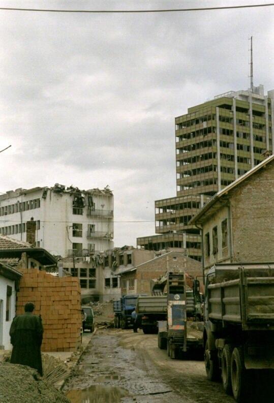 War-Torn Pristina, Kosovo