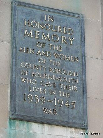Bournemouth War Memorial - Image: War Memorial Bournemouth panoramio