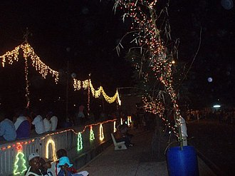 Layou - Christmas lights on the waterfront