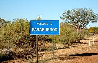 Paraburdoo, Western Australia - Image: Welcome to paraburdoo