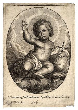 Wenceslas Hollar - The infant Jesus seated on ...