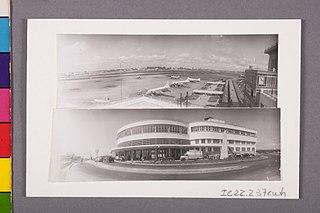 Vista panorâmica e vista parcial do Aeroporto de Congonhas. São Paulo/Sp