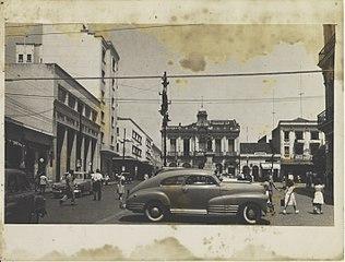 Vista parcial da Praça Antônio Pompeo. Campinas/SP
