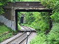 West Roxbury Parkway bridge over Needham Line, May 2012.JPG