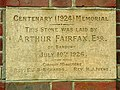 West Wycombe 075 Stone laid by Arthur Fairfax (8066924160).jpg