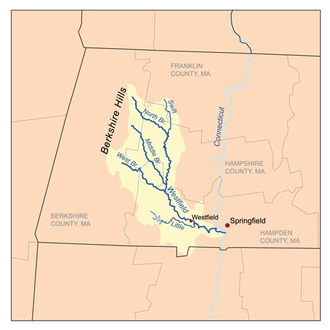 Westfield River - Image: Westfieldrivermap