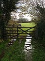 Wet gateway at Ley Green Cross - geograph.org.uk - 285228.jpg