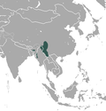 Aire de répartition de la Taupe de l'Assam