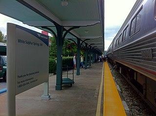White Sulphur Springs station railway station in West Virginia