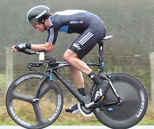 2012 Paris–Nice - Bradley Wiggins finished second to Gustav Larsson by one second on the stage, despite encountering wet conditions.
