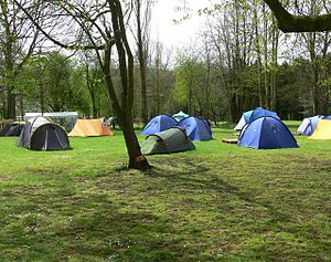 Scouting in the East Midlands - Willesley Scout camp in April 2008