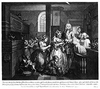 William Hogarth - A Rake's Progress - Plate 5 - Married To An Old Maid.jpg