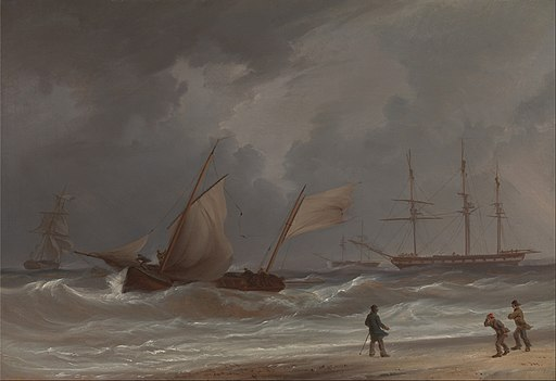 William Joy - A Lugger Driving Ashore in a Gale - Google Art Project