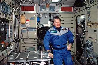 William Shepherd - William Shepherd on the ISS as Commander of Expedition 1