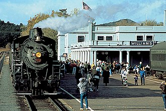 Coconino County, Arizona - Grand Canyon Railway trains at Williams Depot