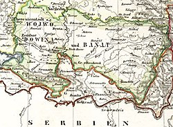 Location of Serbia and Banat