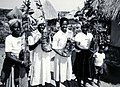 Women Farmers of Poti Resettlement Farm Proudly Display New Fruit Trees, Zimbabwe, 1989 (13875629823).jpg