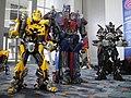 WonderCon 2012 - Bumblebee, Optimus Prime, and Ironhide (7019458607).jpg