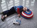 WonderCon 2012 - Captain Blake rests on his shield (6873354428).jpg