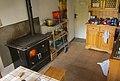 Wood stove in hut Rifugio Forcola 1838 m.a.s.l. Valchiavenna - (Sondrio) Lombardy - Italy. 12-10-2019.jpg