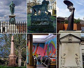 Woolwich, public art collage
